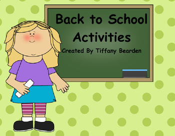 Back to School Actvities