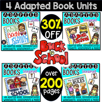 Back to School Adapted Book Bundle {4 books}