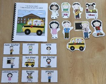 "Back to School Adapted Book--""People At School, Who Am I?"