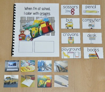 "Back to School Adapted Book--""When I'm At School"" (w/Real Photos)"