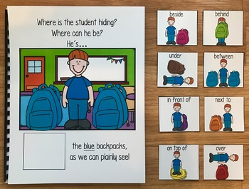 """Back to School Adapted Book--""""Where is the Student Hiding?"""""""