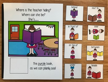 """Back to School Adapted Book:  """"Where is the Teacher Hiding?"""""""