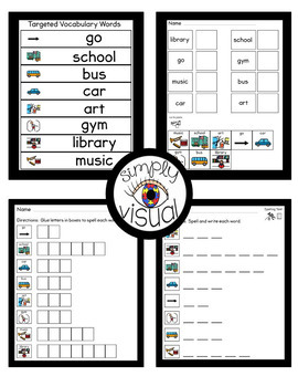 Back to School Adapted Book and Literacy Center Bundle