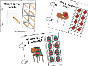 Back to School Adapted Preposition Books (Set of 3)