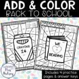 Back to School Add and Color