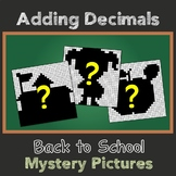 Decimal Addition Color By Number 5th Grade Math Mystery Picture Worksheets