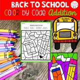 Back to School Addition Color by Code