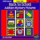 Back to School Addition Mystery Pictures