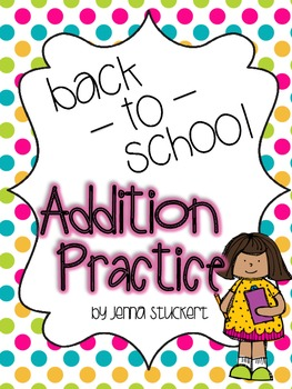 Back to School Addition Practice