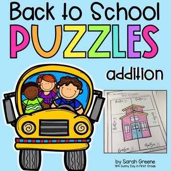 Back to School Addition Puzzles!