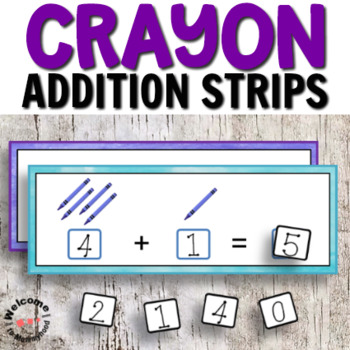 Back to School Addition Strips for Math Centers or Hands-on Activities
