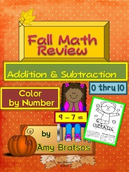 Back to School Addition & Subtraction 0-10 - Color by Numb