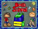 Back to School Addition: Sums to 15, Center, Game, Printables