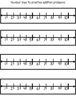 Back to School Addition Unit  / Kindergarten Addition to Ten using a Numberline