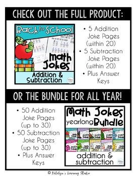 Back to School Math Activities Free