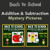 Color By Number Back To School Addition And Subtraction Mixed Worksheet