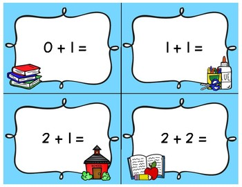 Back to School Addition and Subtraction Scavenger Hunt