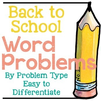 Back to School Addition and Subtraction Word Problems by P