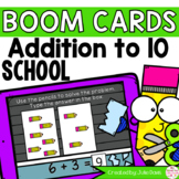 Back to School Addition to 10 Math Centers   Digital Game