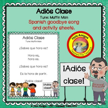 Back to School - Adiós Clase - Spanish song and printables/worksheets