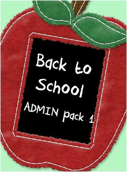 Back to School Admin Pack 1 - classroom resources