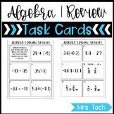 Back to School Algebra 1 Review Task Cards