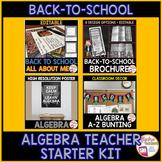 Back to School Algebra Teacher Starter Bundle