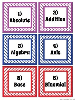 Back to School: Algebra Vocab Isn't Foreign Activity