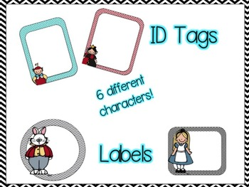 Back to School Alice in Wonderland Themed Classroom Name Plate Bundle