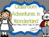 Back to School Alice in Wonderland Themed Classroom Name P