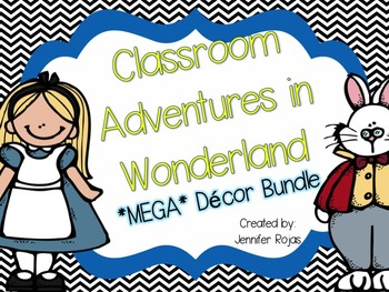 Back to School Alice in Wonderland Themed Classroom Decor