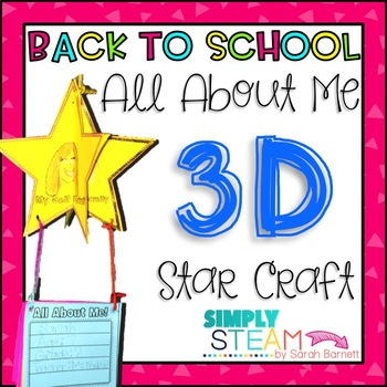 Back to School All About Me 3D Star Craft