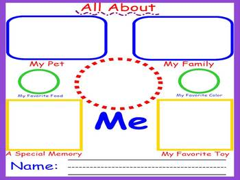 First Day Back to School Activity - Kindergarten, First or Second Grade
