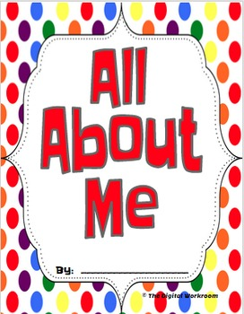 Back to School - All About Me Activity