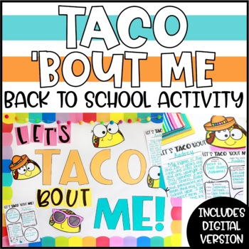 "Back to School All About Me Activity - ""Let's TACO 'Bout ME!"""