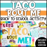 """Back to School All About Me Activity - """"Let's TACO 'Bout ME!"""""""