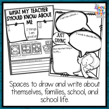 All About Me - a Back to School Activity pack for 4th Grade