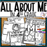 Back to School All About Me - 4th Grade Coloring & Writing Activities
