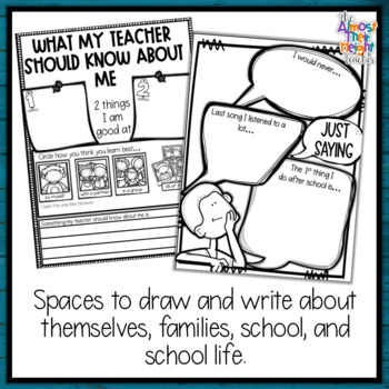 All About Me - Back to School Activity Pack for 5th Grade