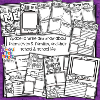 All About Me - A Back to School Activity Pack for 3rd Grade