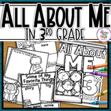 Back to School All About Me - 3rd Grade Coloring & Writing Activities