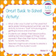 Back to School- All About Me Activity -Beach Ball - for 1st Day of School