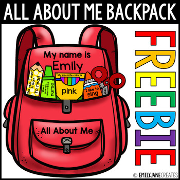 Back to School All About Me Backpack Craft Activity FREEBIE
