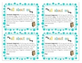 "Back-to-School ""All About Me"" Bag Tags"