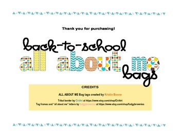 """Back-to-School """"All About Me"""" Bag Tags"""