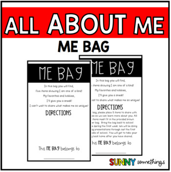 Back to School All About Me Bags