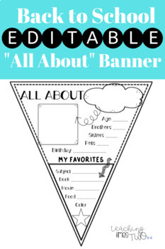 Back-to-School All About Me Banner {EDITABLE}
