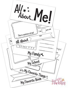 Back to School - All About Me Flip Book and Poster Beginning of the Year