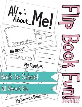 All About Me Flip Book and Poster