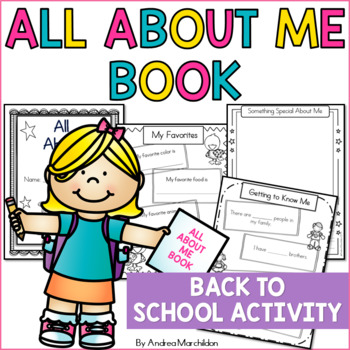 Beginning of the Year: All About Me Book